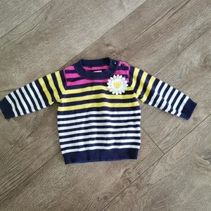 3/$12 The children's place sweater striped 6-9 m